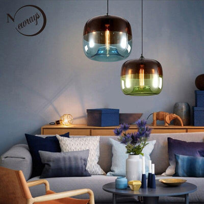 Modern Nordic Art Hanging Glass Pendant Lamp Lights Fixtures