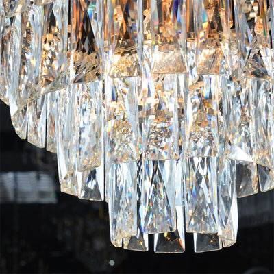 Round Hanging Crystal Lustre