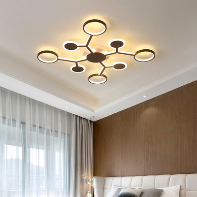 Modern remote LED chandelier lighting for living room