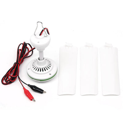 Plastic 3 Leaves Brushless Converter Motor Battery Mini Ceiling Fan With Switch
