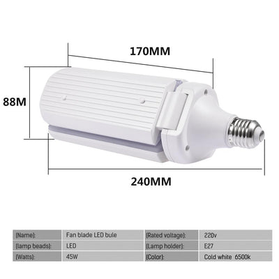 Super Bright Industrial  LED Fan Garage Light