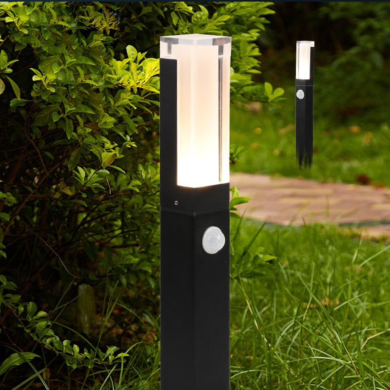 Waterproof IP65 Aluminum Motion Sensor Outdoor  Lawn Lamp