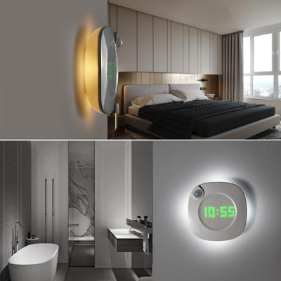 PIR Motion Sensor LED Wall Lamp With Time clock