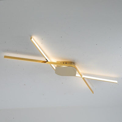 Aisle Chrome/Gold Plated Minimalist Modern LED Ceiling Lights