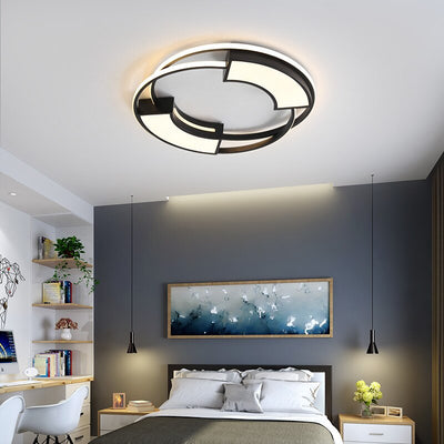 White Black balcony Round LED Ceiling Lamp