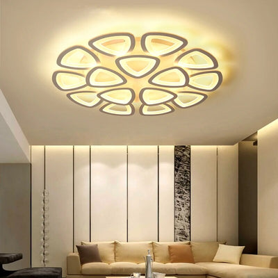 Iron Acrylic 5/9/12/15 Heads Modern Indoor Ceiling Light