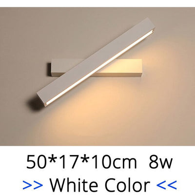 Indoor New Led Wall Lamps Bedside Study Room Mounted Sconce Light 8W Coffee White Frame Lighting Fixtures Luminaria Wandlamp