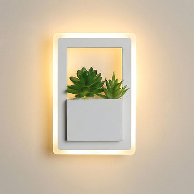 Nordic plant wall lights Creative bedside bedroom 11W sconce living room simple modern aisle acrylic modern Indoor LED wall lamp