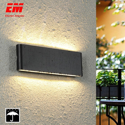 Waterproof Outdoor Wall Lamp 18W LED Source Up And Down Lighting Modern Indoor Outdoor Engineering Porch Garden Light ZBW0011