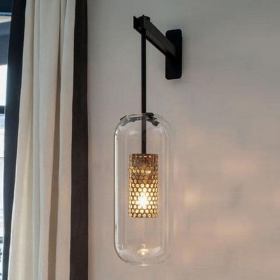 Simple modern glass wall lamp aisle corridor lights Nordic creative personality living room bedside bedroom Light AC110-240V