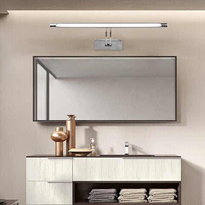 LED Minimalist Mirror Light Wall Mounted Lamp Adjustment Modern Scone Indoor Lighting Bathroom Stainless Steel Waterproof 220V