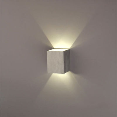 1PCS 3W LED Wall Lamp With Square Shape Modern Household Living/Bed Room LED Spot Light Aluminum Wall Mount Light
