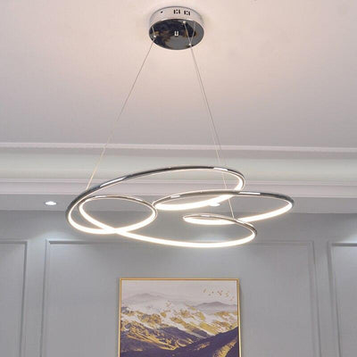 Chrome Gold circular finished Pendant Light