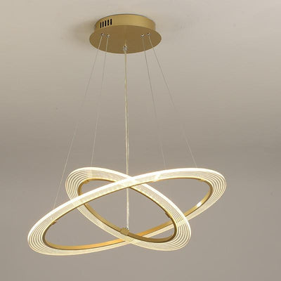 Homed decor Gold circular Pendant lights fixtures
