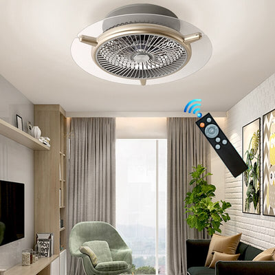 Modern LED Ceiling Fans Lights Intelligent Timming with 3Colors with Remote Control