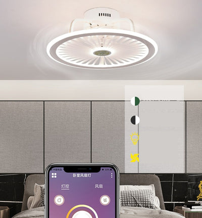 App ceiling fan lamp with lights with remote control