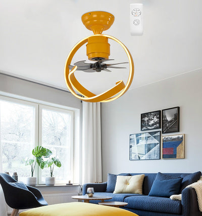 LED Ceiling Fans Lamp For Living Room 220V