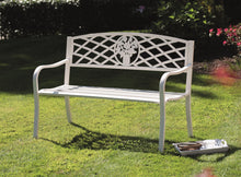 Load image into Gallery viewer, White Garden Bench