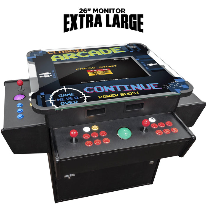 "3 SIDED COCKTAIL ARCADE TABLE | 2 PLAYER | 26"" Screen 