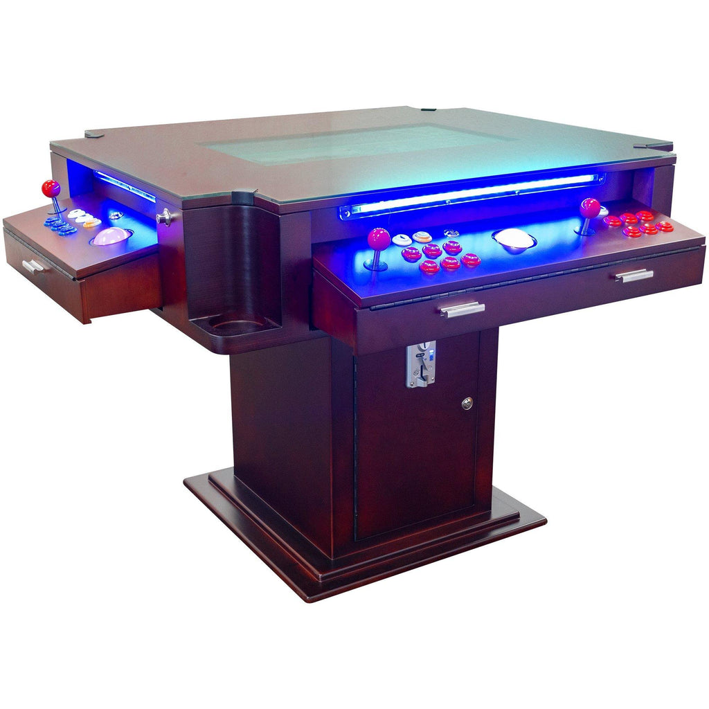 "2 PLAYER 1162 GAMES 3-SIDED ELEGANT SERIES COCKTAIL ARCADE TABLE 26"" LCD MONITOR"
