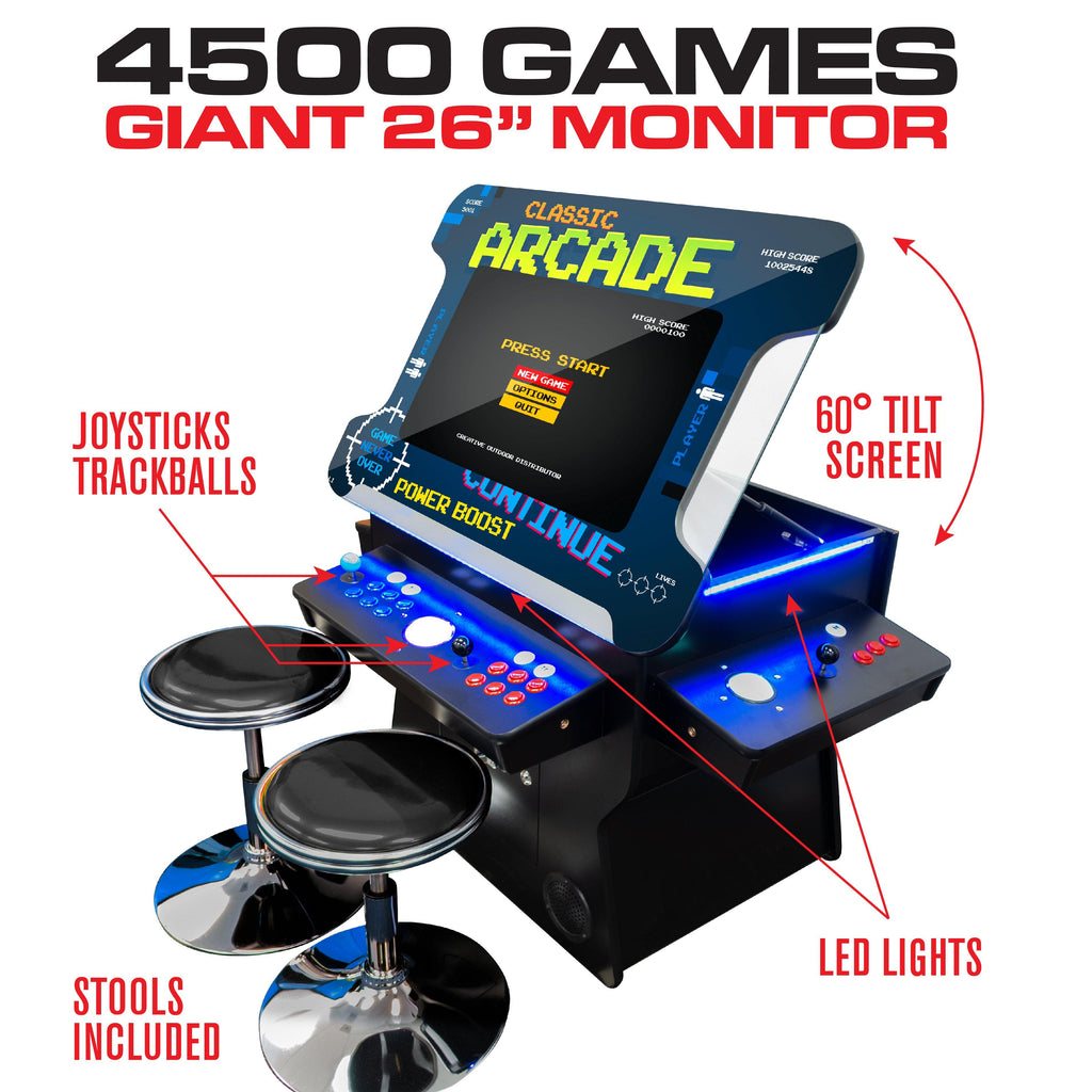 "Full Size Arcade Games Machine | Lift Screen Cocktail Table Arcade | 26"" & 32"" LCD 