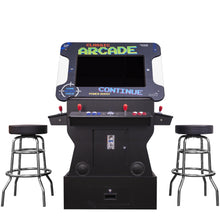"Load image into Gallery viewer, 2P 3500 Games 32"" TILT Cocktail with Riser, Tall Stools, LED Lights, and Dimmer Switch"