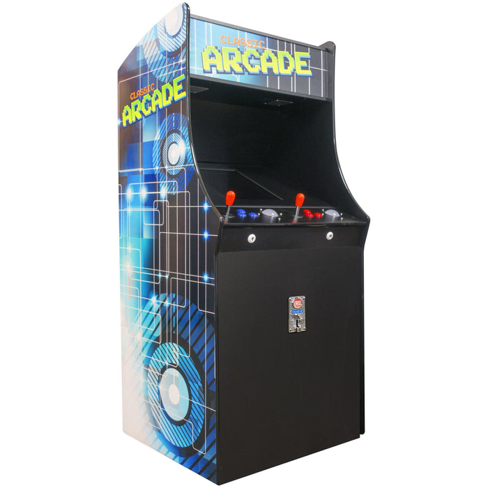 "2 Player Stand-Up Arcade Machine with 19"" LCD Monitor, Large Trackball and 2 Tall Stools Creative Arcades"