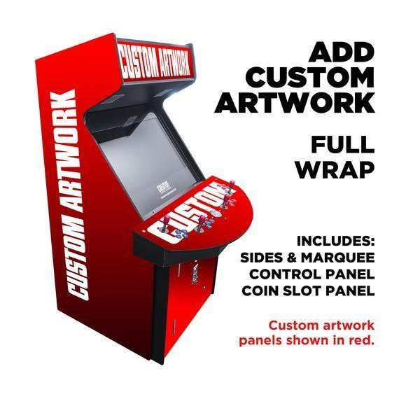 "4 Player Full Size Arcade Cabinet | 32"" LCD Monitor 