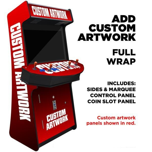 "4 Player Arcade Cabinet Slim | 32"" LCD Monitor 