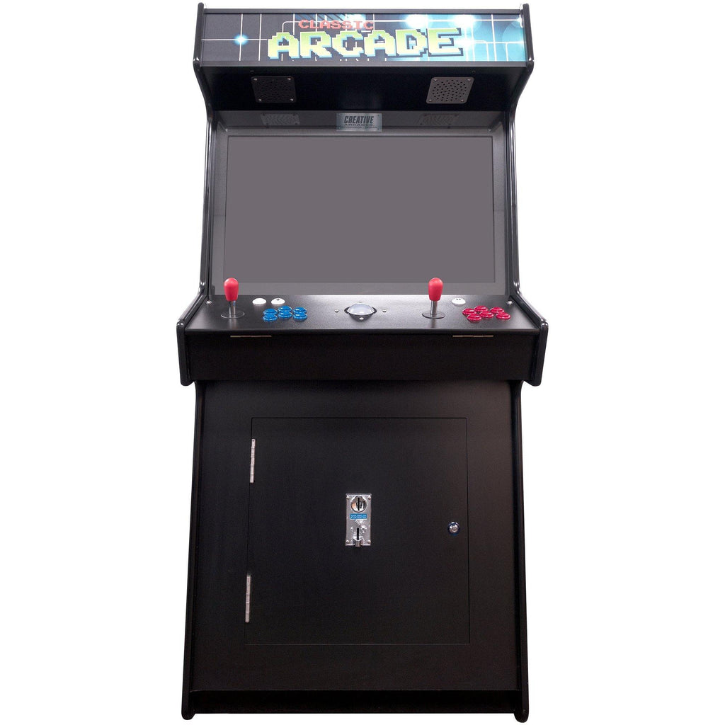 "2 Player Slim Stand-Up Arcade Machine | 3500-4500 Games | 32"" LCD Monitor 