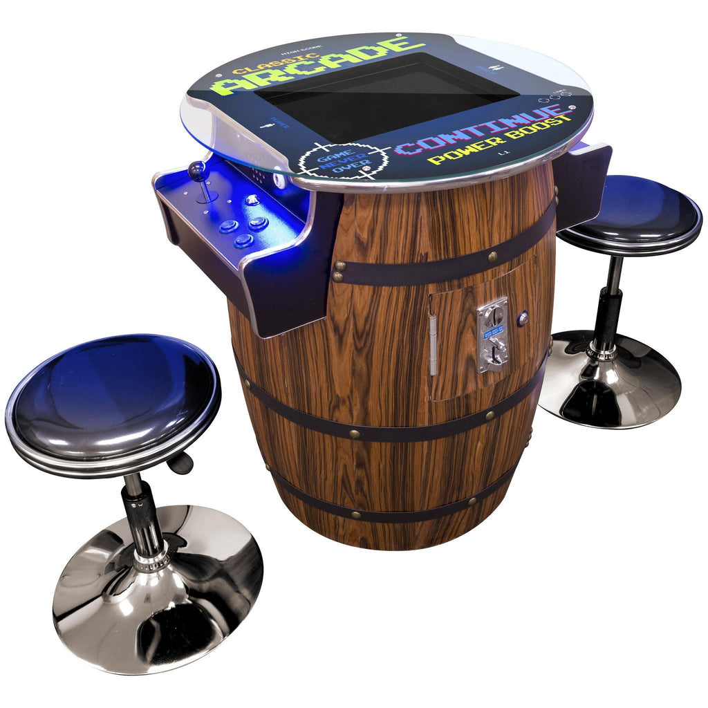 "2 PLAYER MID-SIZE WINE BARREL ARCADE | 17"" LCD Monitor 