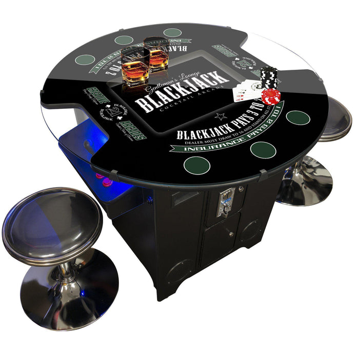 2 PLAYER BLACKJACK COCKTAIL ARCADE | 60 & 412 Games | STOOLS INCLUDED