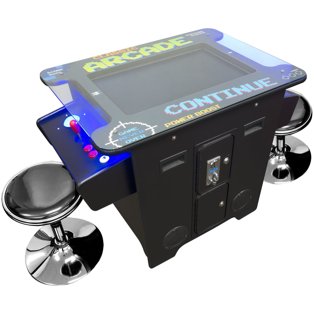 Cocktail Arcade Table Machine ft. 60 & 412 Classic Games | 2 Player | 26 Inch LCD