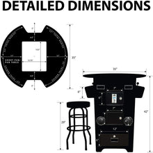 "Load image into Gallery viewer, 2 PLAYER 39""H PUB TABLE COMBO ARCADE 