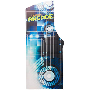 2 Player Stand-Up Arcade Machine with Built-In Refrigerator side marquee
