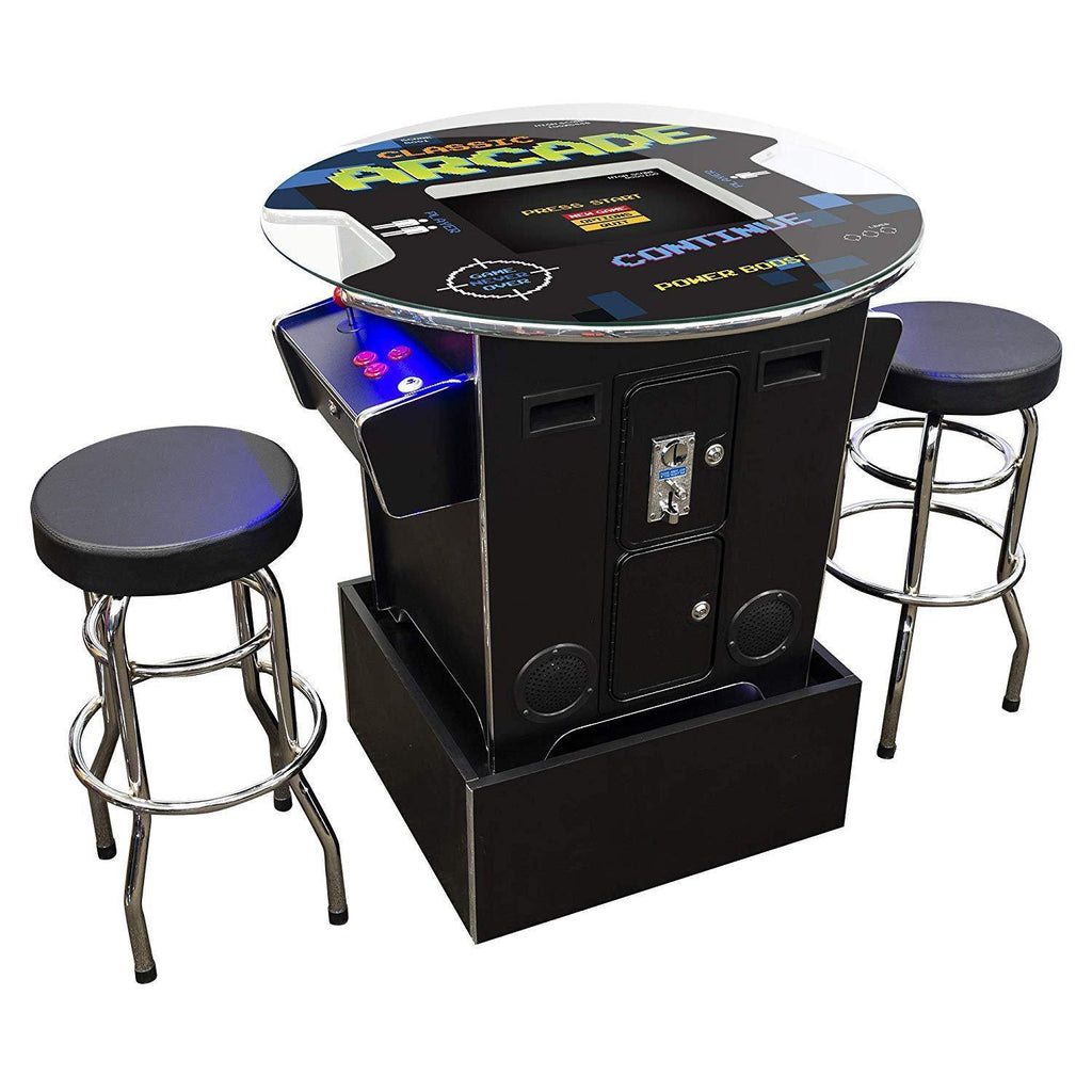 "2 Player 39""H Pub Table Arcade Machine with 19"" LCD Monitor, Riser and 2 Tall Stools Creative Arcades"