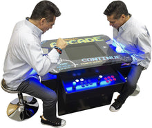 "Load image into Gallery viewer, 3 SIDED TALL OVAL TOP PUB TABLE | 2 PLAYER | 19"" LCD MONITOR 