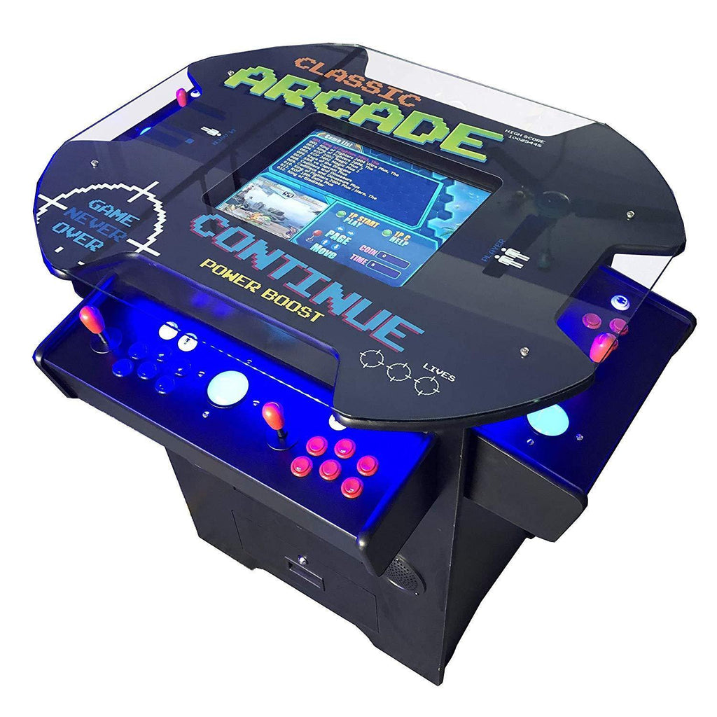 Creative Arcades Full-Size Commercial Grade Cocktail Arcade Machine | Trackball | Three-Sided | 1162 Classic Games | 4 Sanwa Joysticks | 2 Stools | 3-Year Warranty Creative Arcades