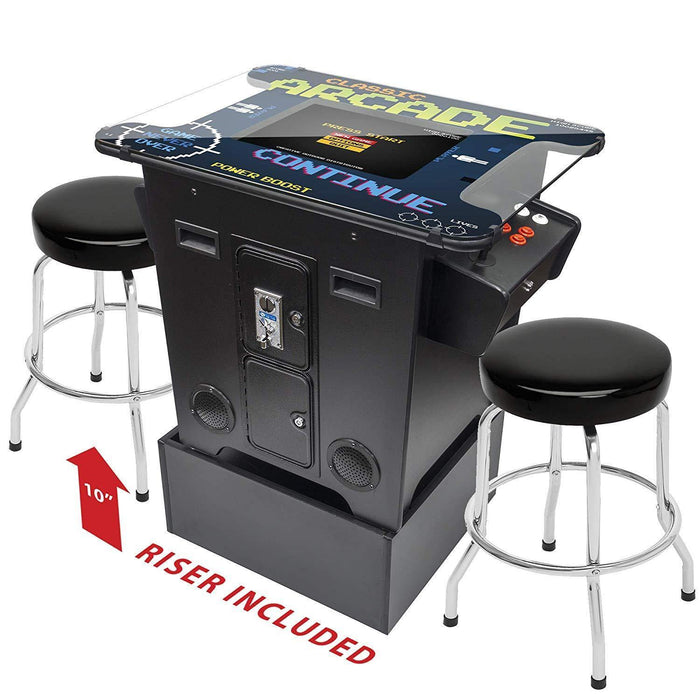 "2 Player Cocktail Table Arcade Machine with 19"" LCD Monitor - Arcade Riser Included - Square Glass Top Creative Arcades"