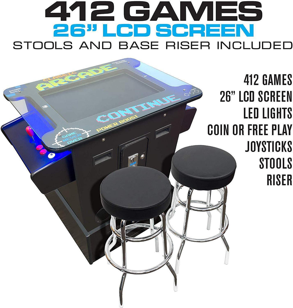 "2 Player Cocktail Arcade Table Machine | 26"" Screen 