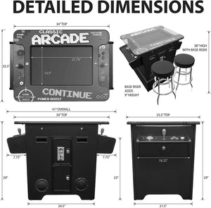 "2 PLAYER COCKTAIL TABLE Arcade Machine | 26"" LCD Monitor 