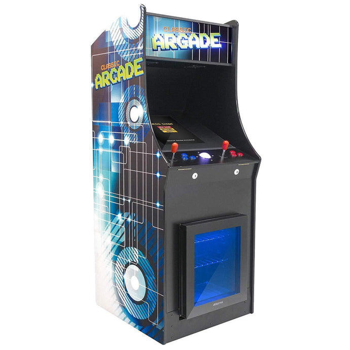 2 Player Stand-Up Arcade Machine with Built-In Refrigerator, | 60 Classic Games | 19