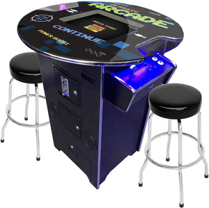 "2 PLAYER 39""H PUB TABLE COMBO ARCADE 