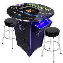 "Load image into Gallery viewer, 2 Player 42""H Pub Table Arcade Machine with 19"" LCD Monitor and 2 Tall Stools 