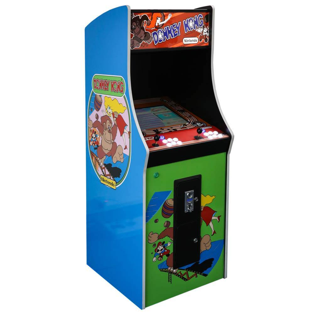 Classic Donkey Kong Arcade Cabinet Machine with 412 Games