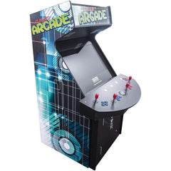 """4 PLAYER FULL SIZE ARCADE CABINET 