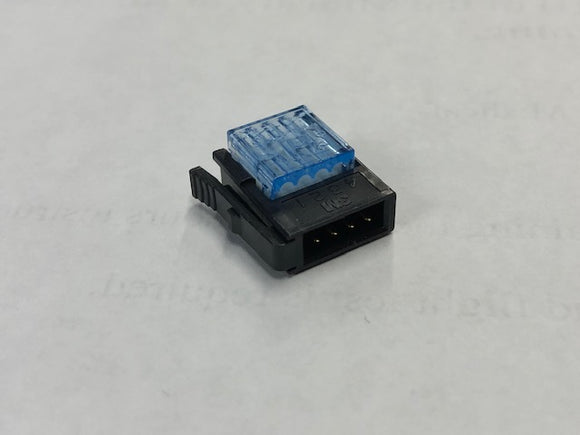 5066157 CON824204 9787 - Connector, 4 pos 2mm, Mini Clamp, Blue, Plug, 20-24awg, C/E, IDC