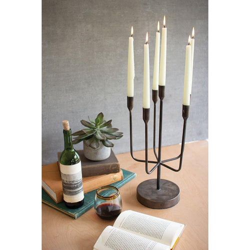 Antique Brass Candelabra Taper Candle Holder-Iron Home Concepts
