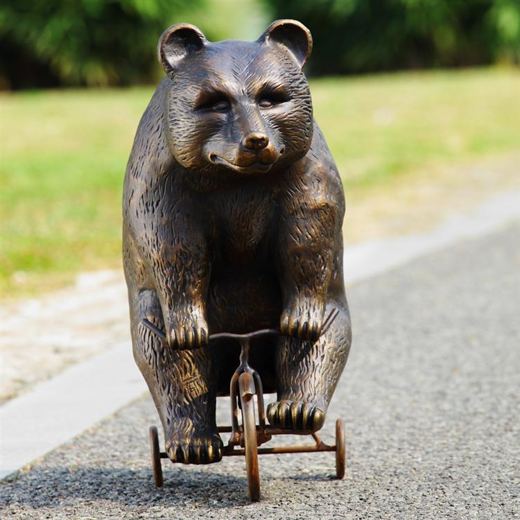 Big Bear On Little Trike Garden Decor-Iron Home Concepts