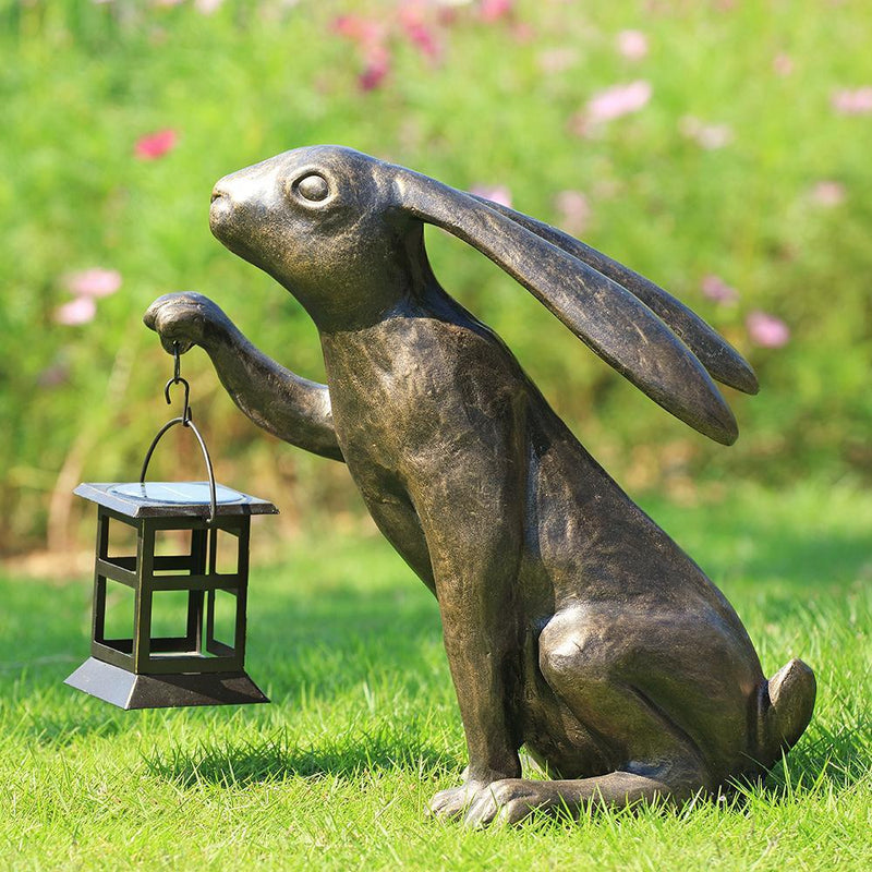 Big Bunny LED Garden Lantern-Iron Home Concepts